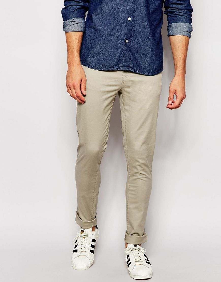 Have a look at this ASOS Super Skinny Pants In Light Green - Aluminium -  http