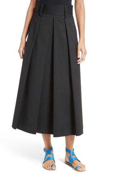 Tibi Agathe High Waist Pleated Midi Skirt available at #Nordstrom