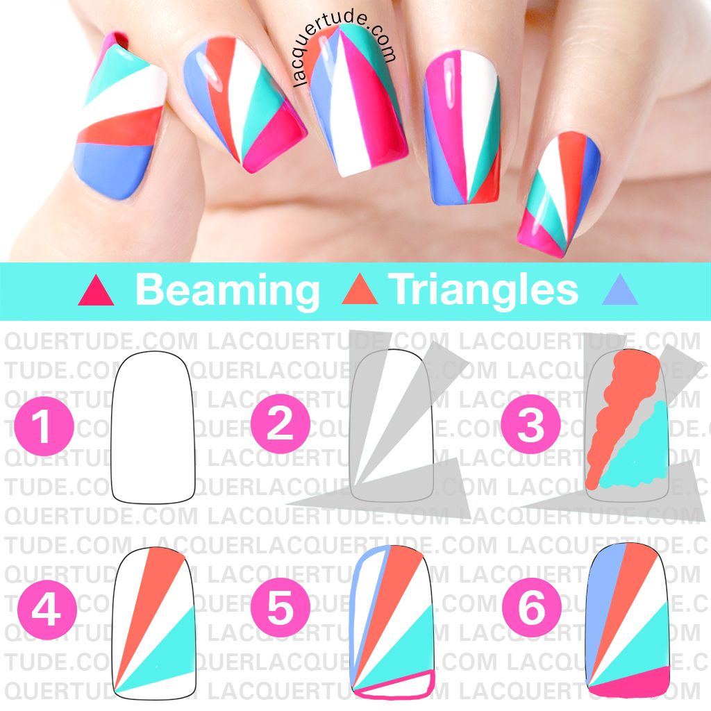 Lacquertude-Beaming-Triangles-Nail-Art-TUTORIAL picture polish ...