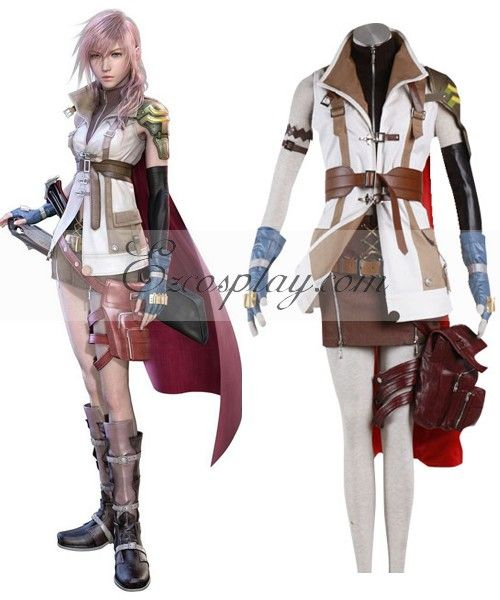Final Fantasy XIII FF13 Lightning Cosplay Costume - Deluxe Design