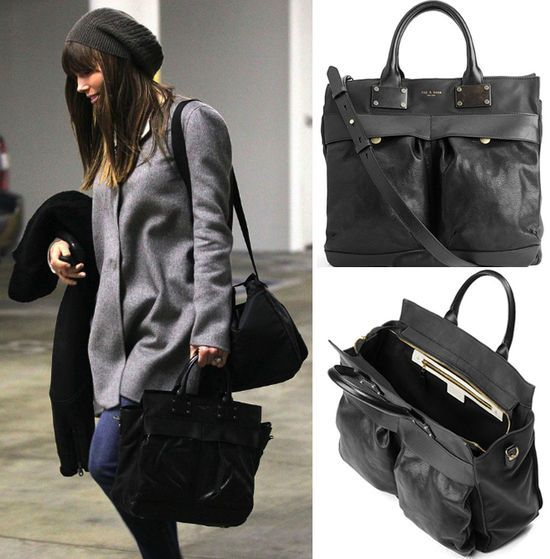 Jessica Biel Rag Bone Pilot Bag Handbag Purse