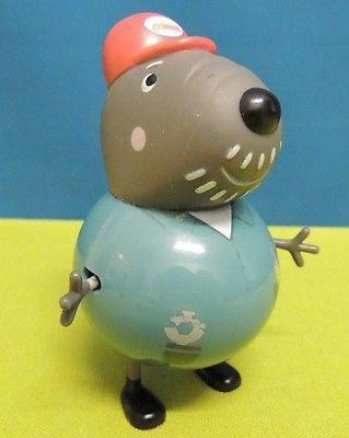 Grandad Dog Peppa Pig Figure Figurine Cake Topper Toy