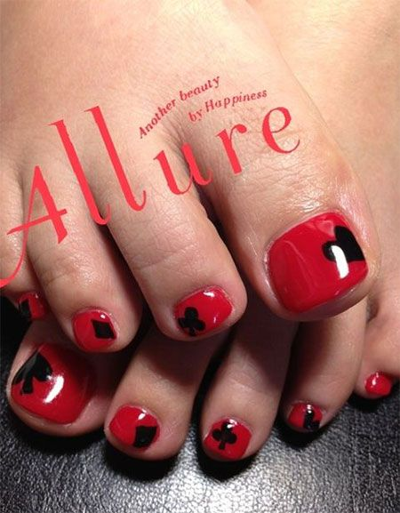 Valentine S Day Toe Nail Art Designs Valentine S Day Toe Nail Art