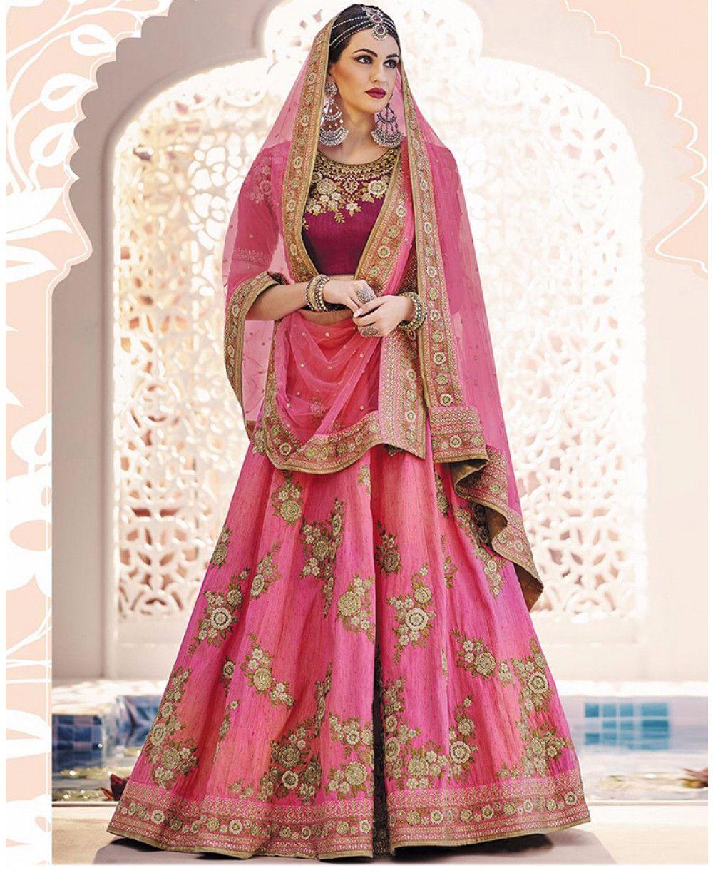 dc83f378df Colour Trendz Pink Hand Work Bridal Wedding Ware #Lehenga Choli ...