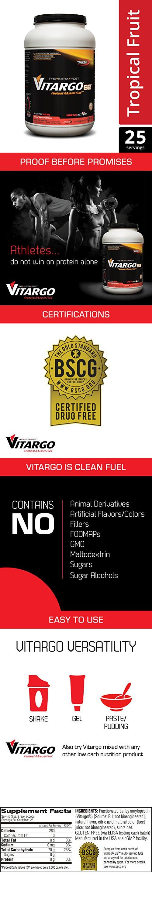 Vitargo S2 - Gluten Free Pre - Intra - Post Workout and ...