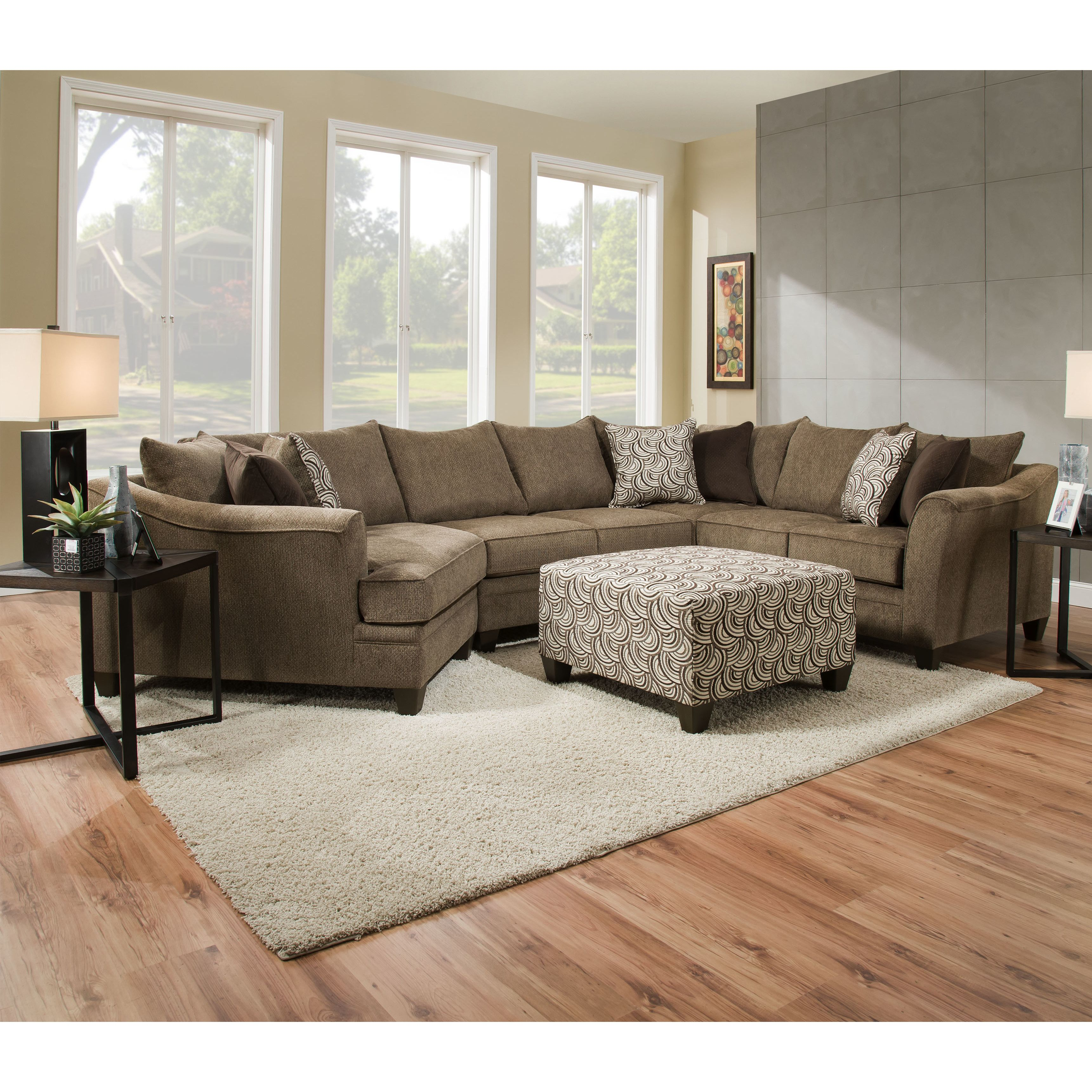 Teri Right Hand Facing Sectional Living Room Farmhouse Living