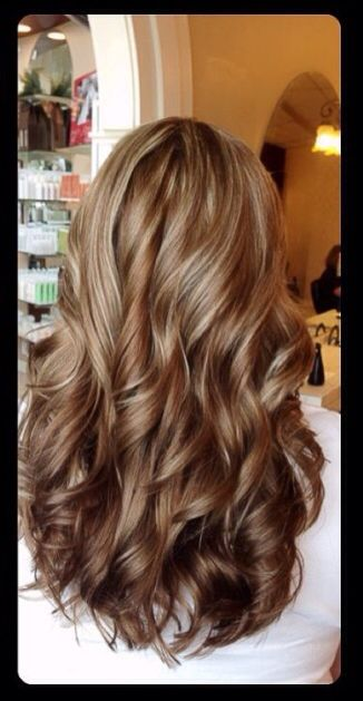 Dark Brown With Caramel Highlights Hair Hair Long