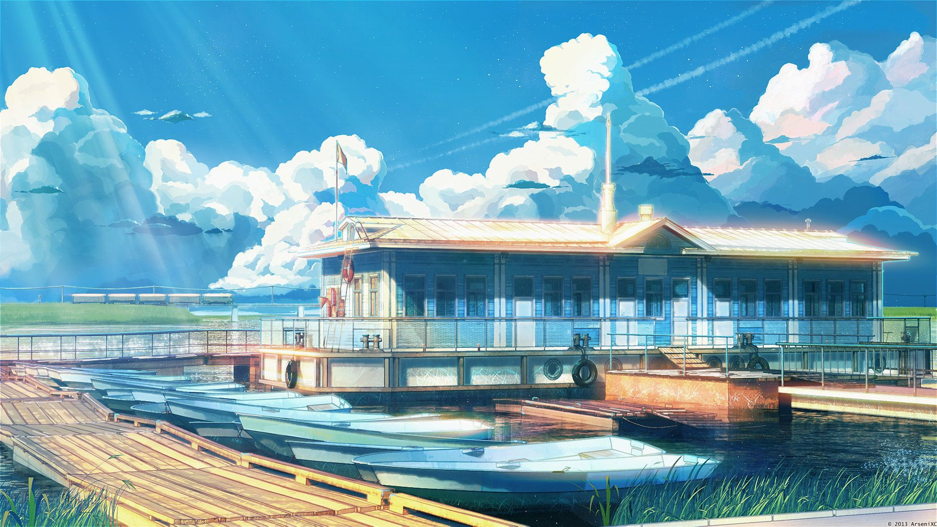 Summer Camp Backgrounds Arseniy Chebynkin Anime Scenery Wallpaper Anime Scenery Scenery Wallpaper