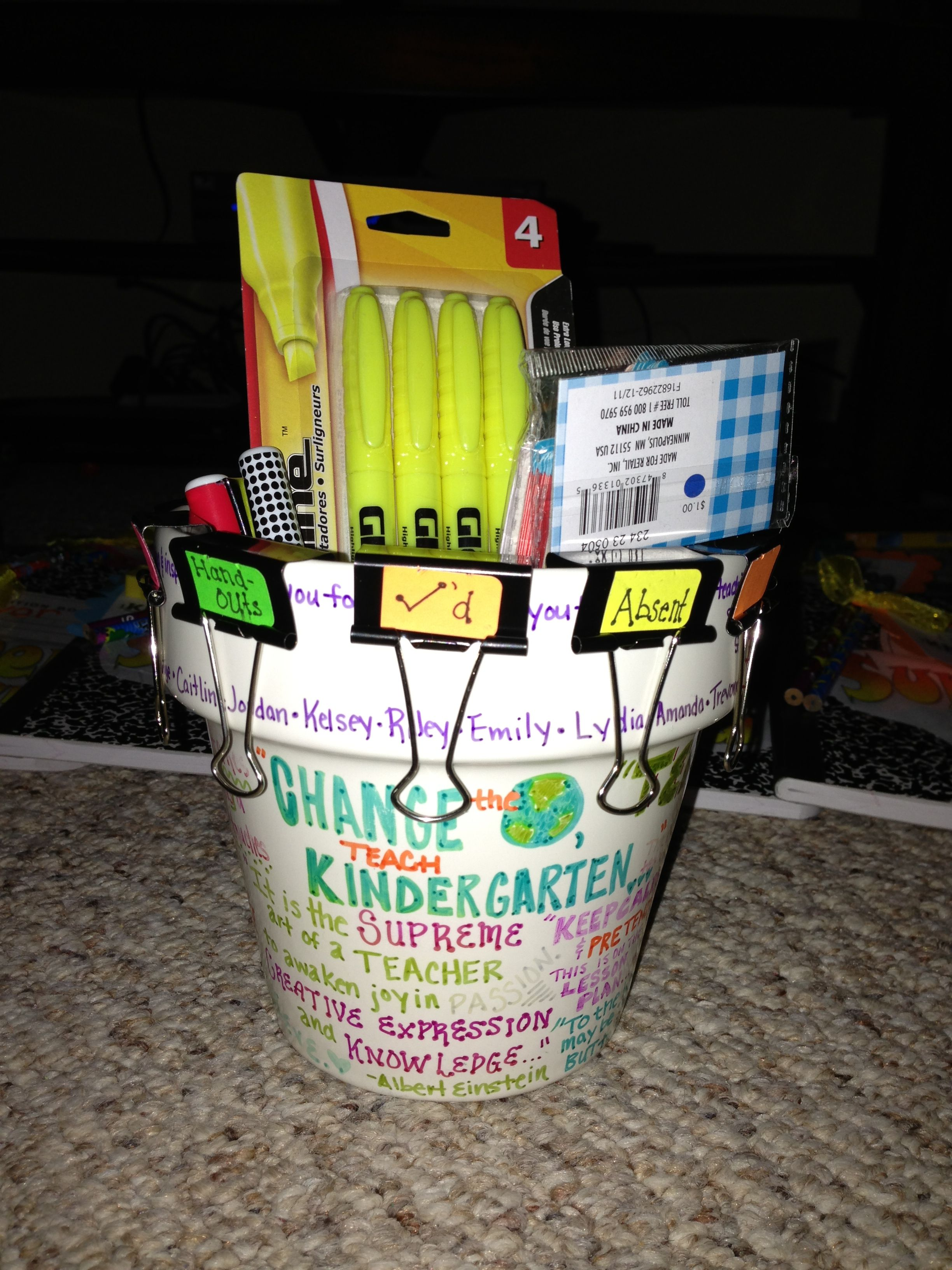 Penpencil, Marker,Holder Gift I Made For My Cooperating Teacher Decorated