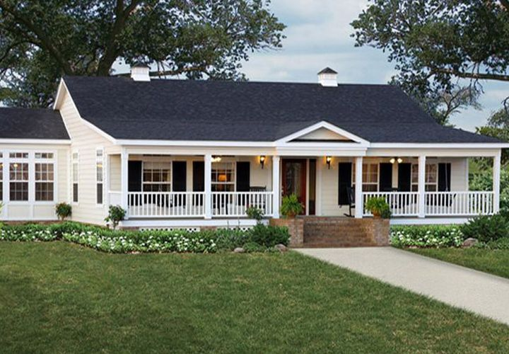 Nice triple wide mobile homes home exterior pinterest for Pictures of porches on mobile homes