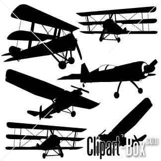 Clipart Vintage Planes Royalty Free Vector Design Aircraft Images Clip Art Vintage Silhouette Vector