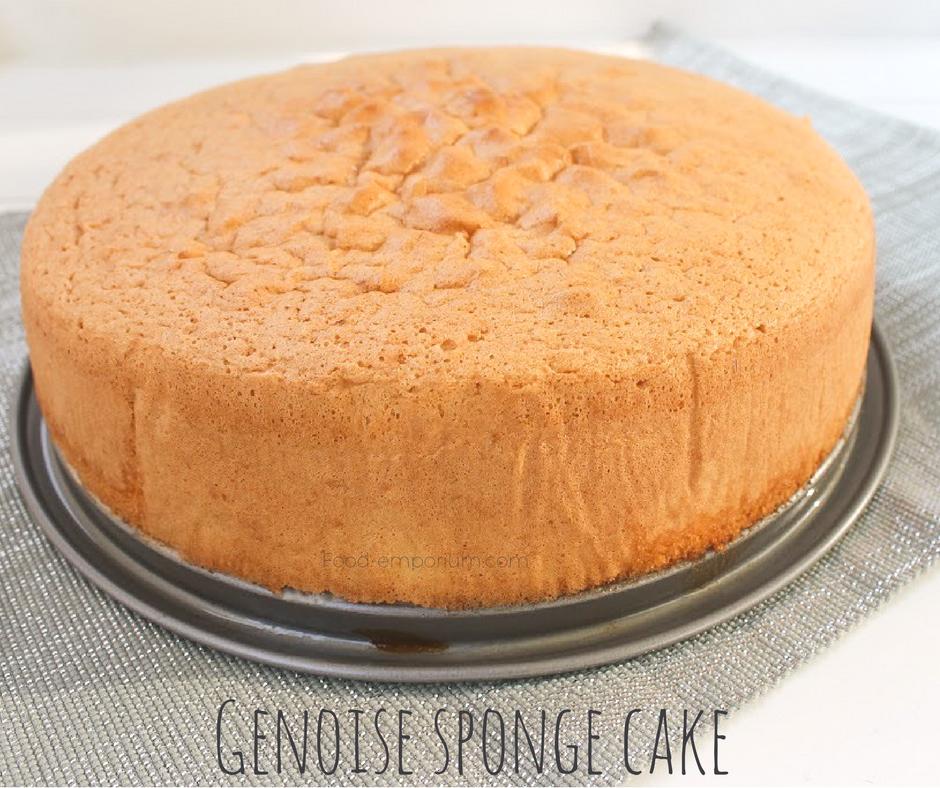Astonishing Genoise Sponge Cake Recipe Genoise Sponge Cake Recipe Sponge Funny Birthday Cards Online Inifodamsfinfo