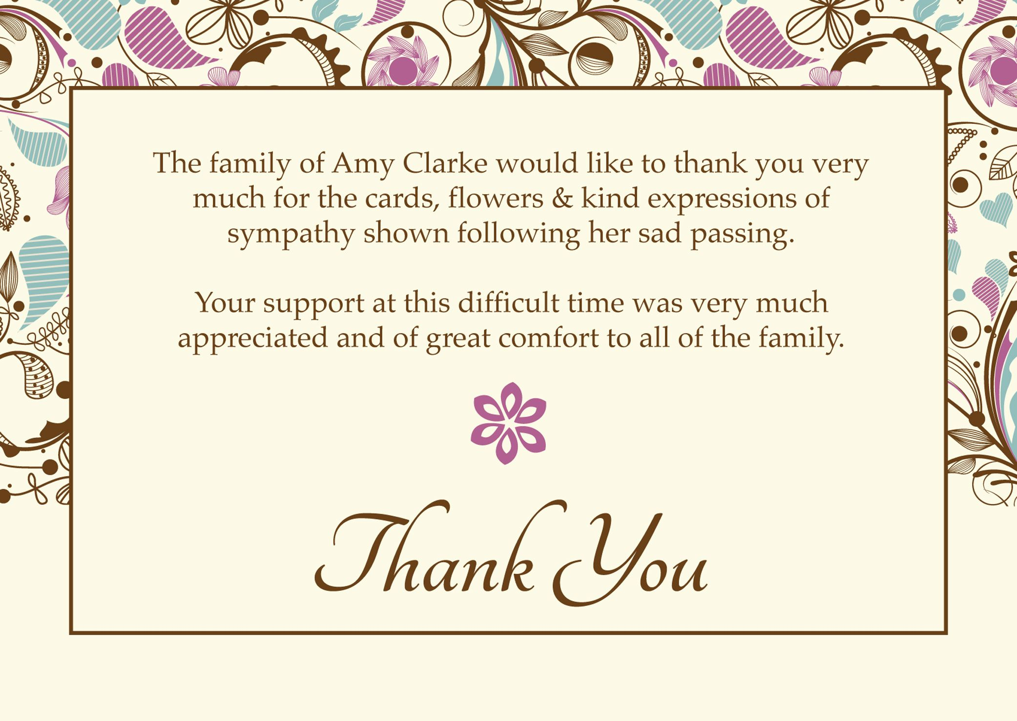 Images Of Thank You Cards Wallpaper Free – Funeral Thank You Note