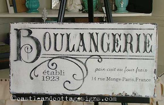 The perfect sign for your French country kitchen ...
