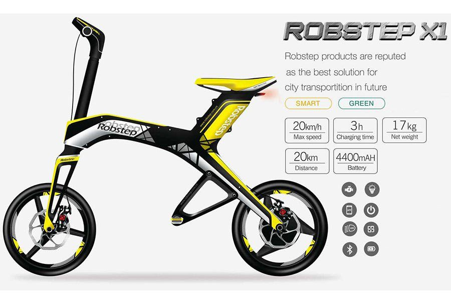 Robstep X1 The Trendy Sport Looking Foldable Electric Bike Avec