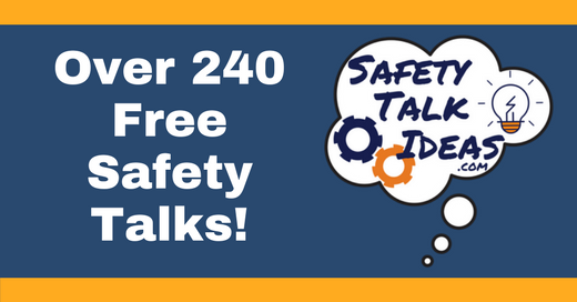 Safety Talks | HES | Safety moment topics, Safety moment
