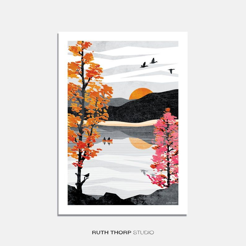 Reflect Art Print: Autumn Collection A4, A3, A2, A1