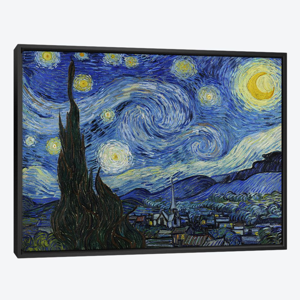 Bari Gallery ليلة النجوم لوحة كانفس لوحة فنية جدارية للمنزل Starry Night Van Gogh Gogh The Starry Night Starry Night Painting