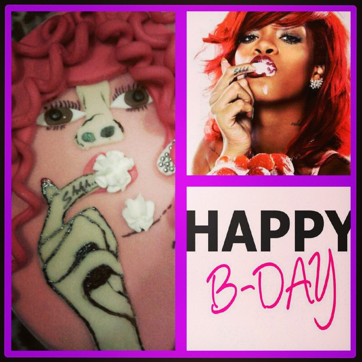 Rihanna Birthday Cake He Want That Cake Cake Cake Loes