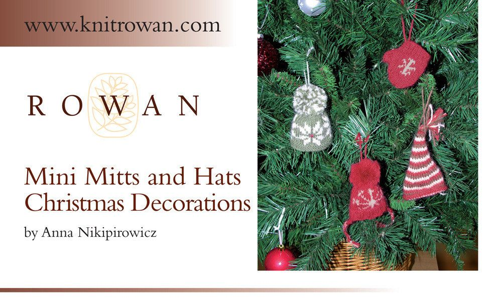 Mini Mitts and Hats Christmas Decorations in Rowan Kid Classic ...
