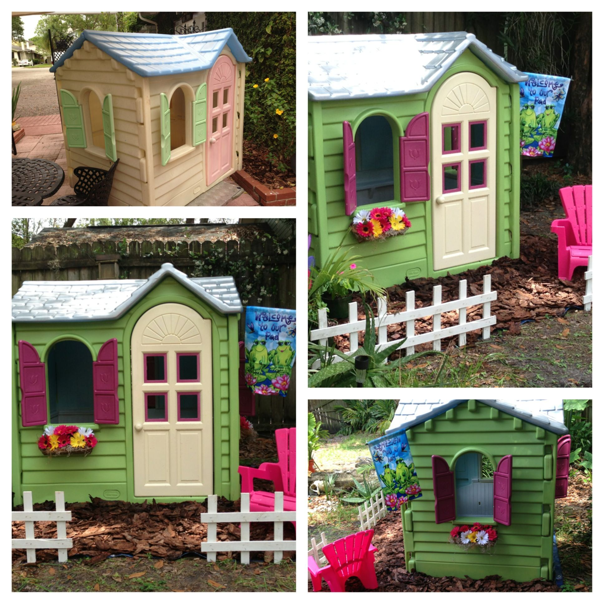 Playhouse I bought for 25 and painted with Valspar spray
