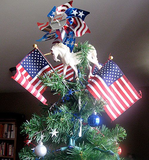 Tree Topper Idea Minus The Unicorn And Add More Pinwheels