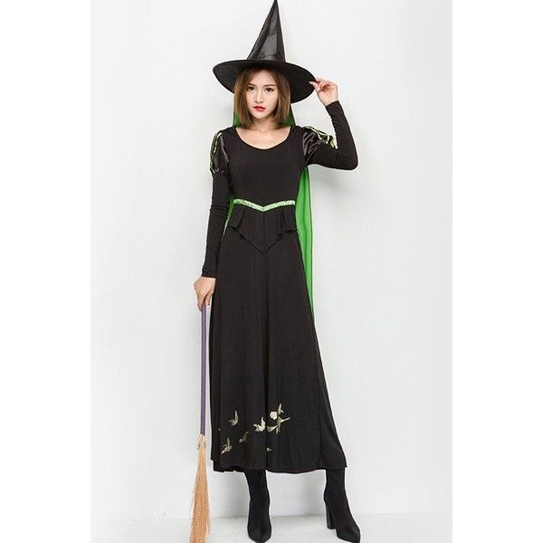 Green Wicked Witch Dress Halloween Costume ($37) ❤ liked on - green dress halloween costume ideas