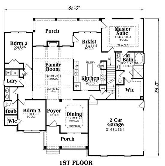 Cottage Plan 1934 Square Feet 3 Bedrooms 2 Bathrooms Madison Floor Plans Ranch Shingle House Plans Basement House Plans