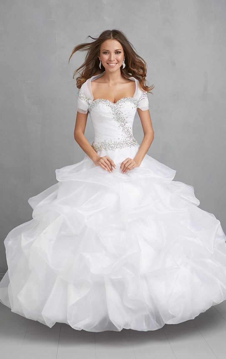 Vestido De Debutante Para 15 Anos Elegant White Ball Gown 15 Year