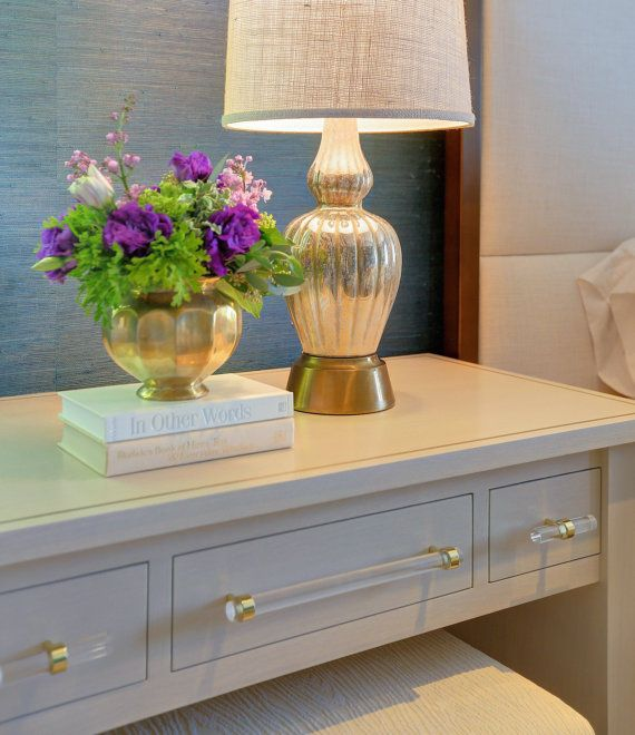 Polished Or Satin Brass Drawer Pulls   Lucite Cabinet Handles
