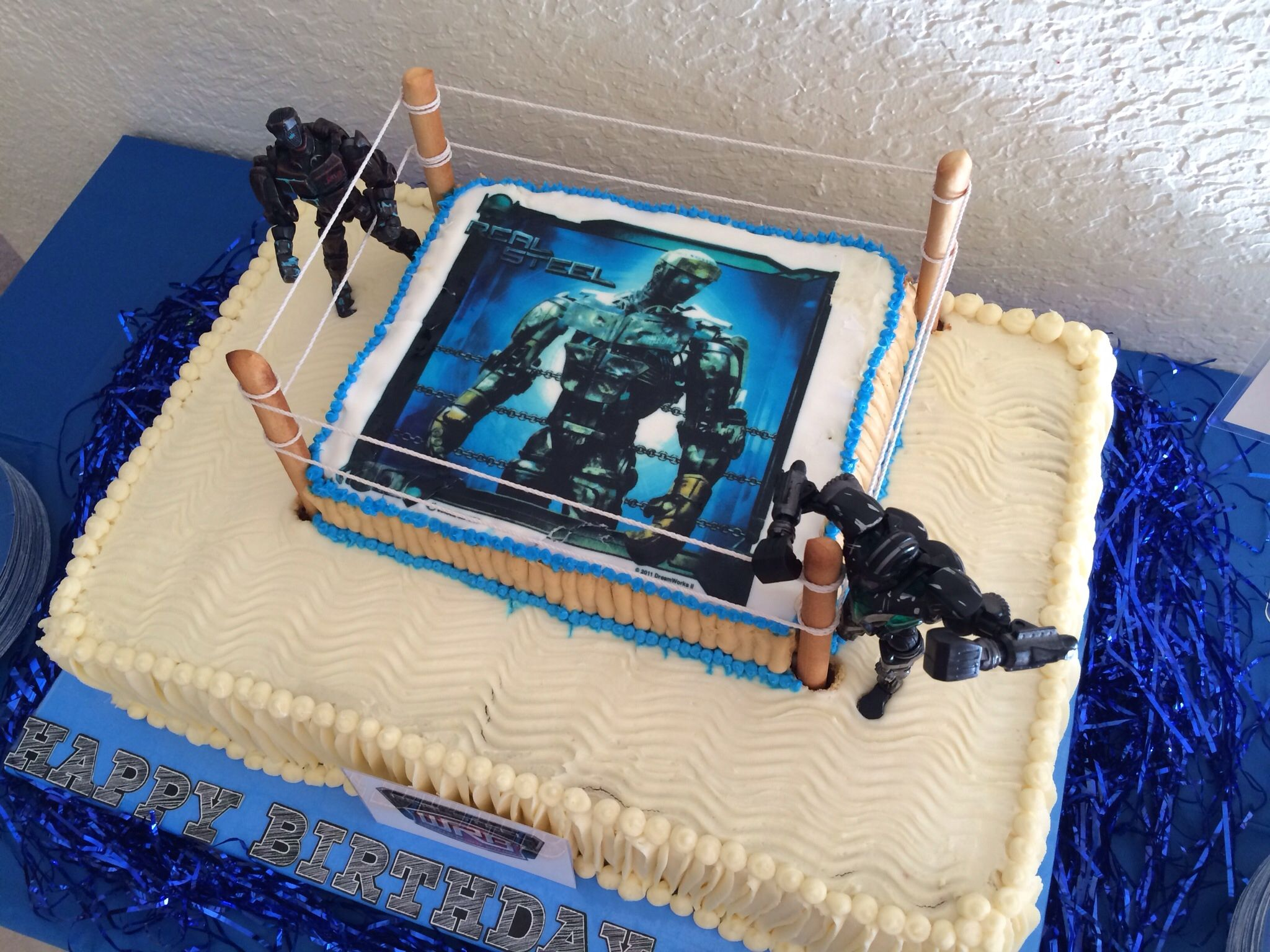Real Steel Birthday Cake Real Steel Birthday Party Pinterest - Real birthday cake images