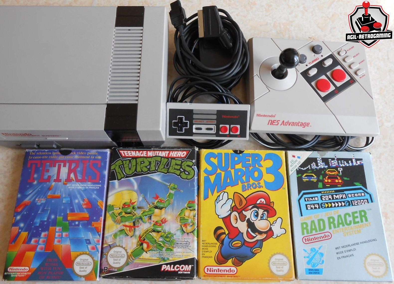 Nintendo - NES : Tetris / TMNT / Super Mario Bros 3 / Rad Racer