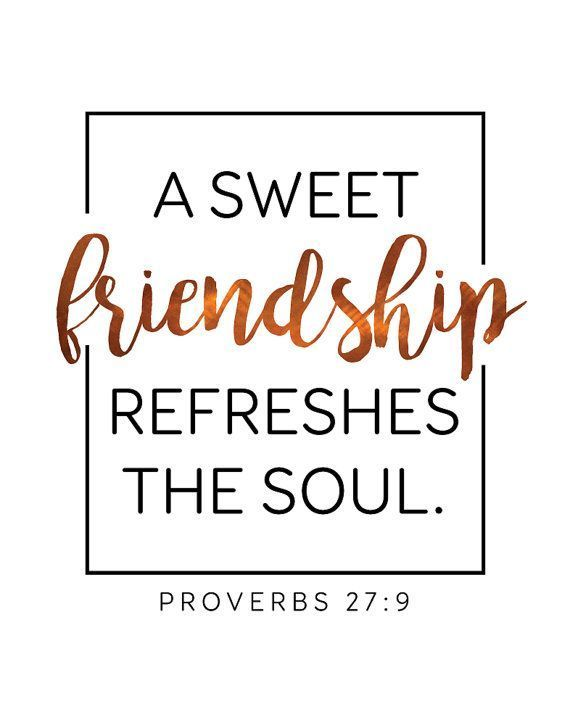 #ad A Sweet Friendship Refreshes The Soul