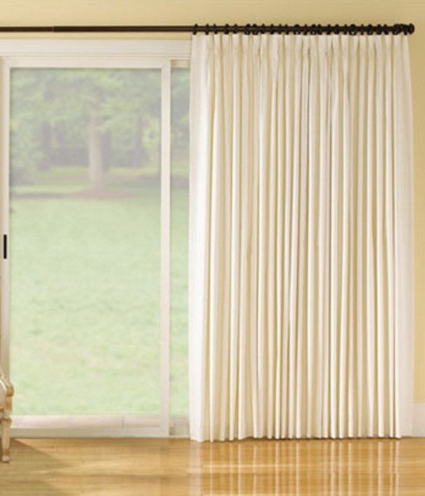 pinch pleat curtains for sliding glass