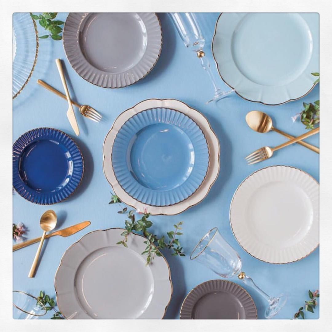 Shades. X A gorgeous look at the #marchesabylenox new tableware collection! #marchesa #lenox