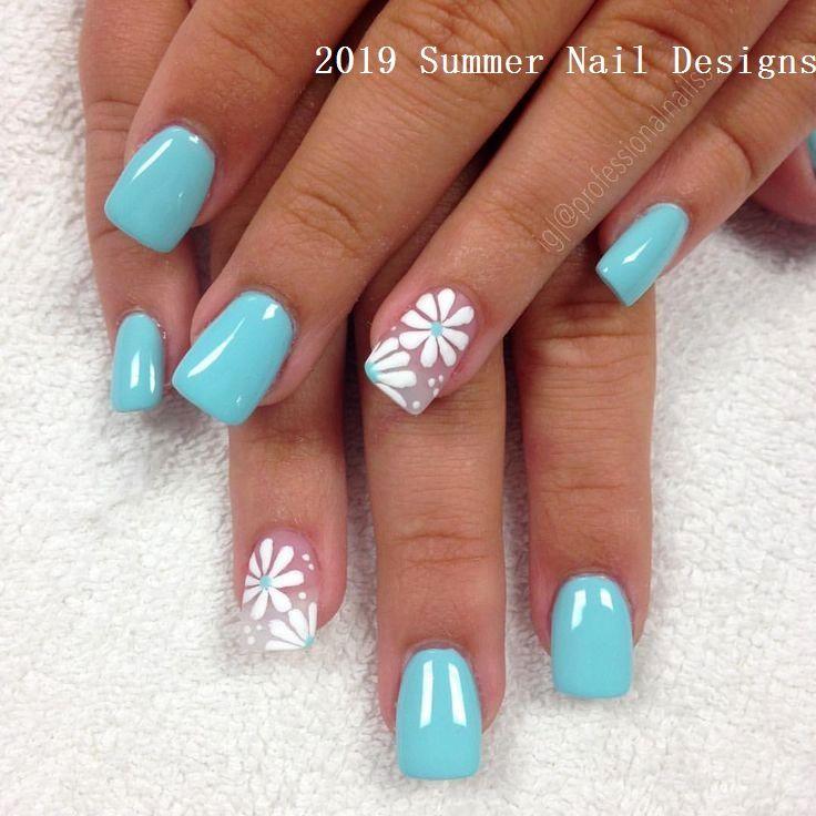 33 Cute Summer Nail Design Ideas 2019 Nail Naildesigns Turquoise Nails Nail Designs Summer Nails