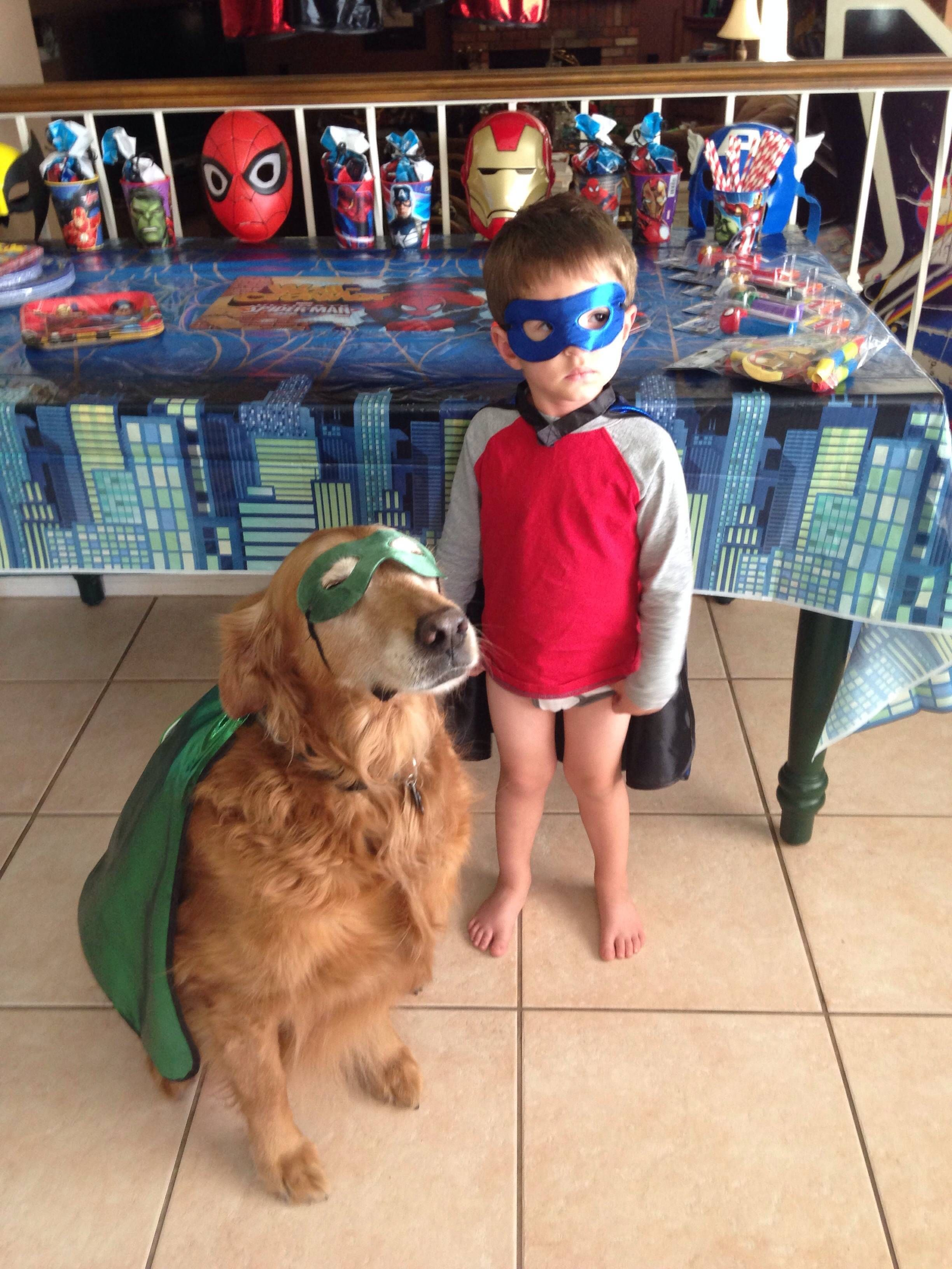 My 3 Year Old Son And His 12 Year Old Best Friend At His Birthday Party Post Happy Dogs Cute Animals Cute Dogs Breeds