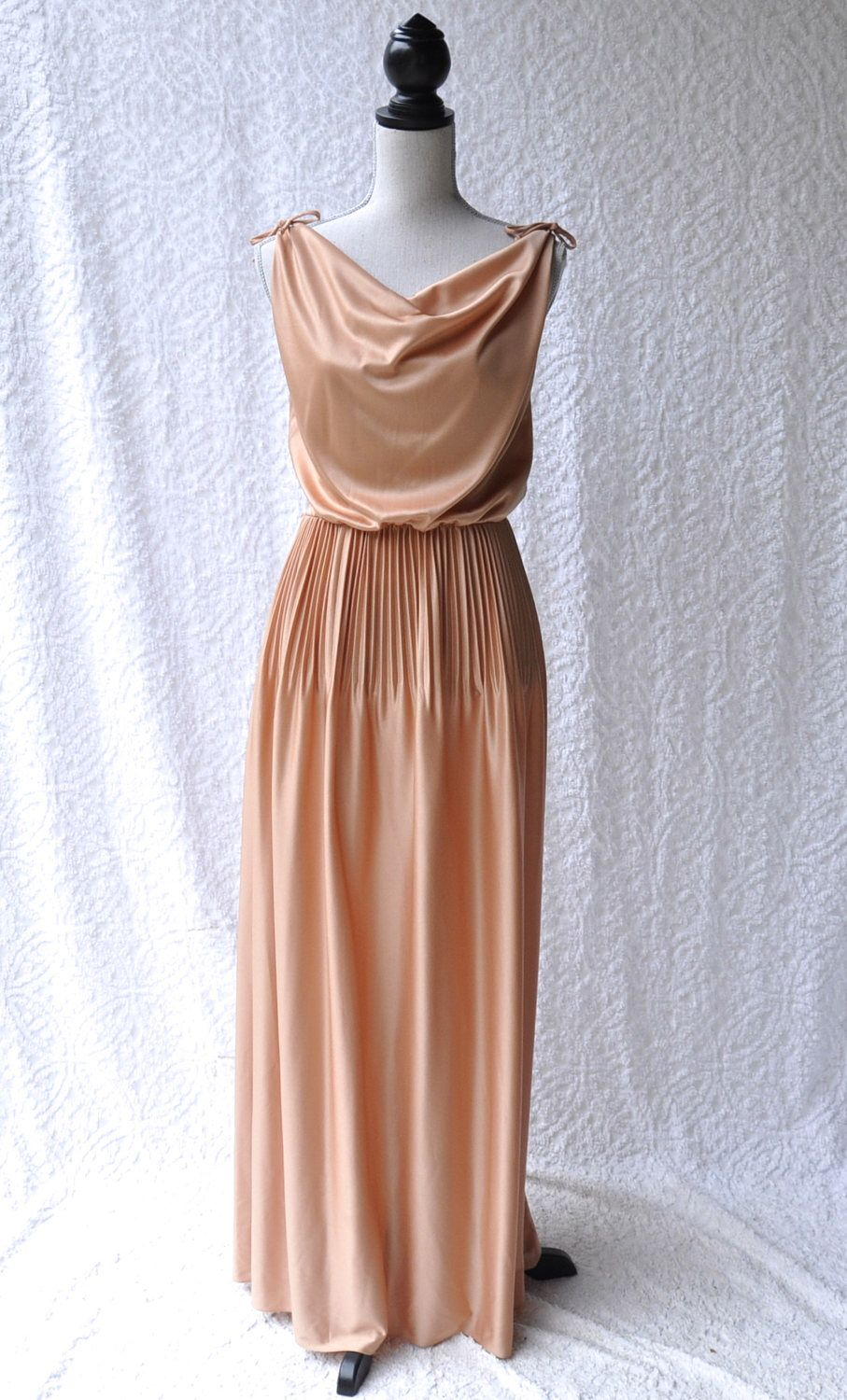 S formal gown mod full length dress s bridesmaid retro