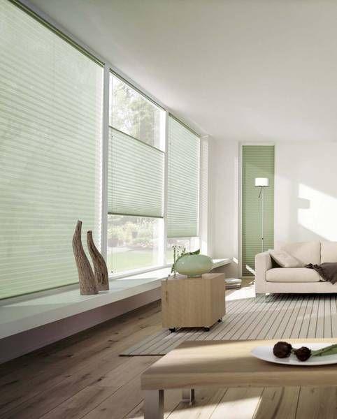 Wohnzimmer mit Jalousien und Gardinen - Dekofactory Schöner wohnen - design gardinen wohnzimmer