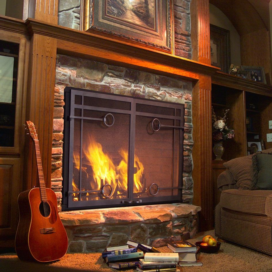 Furniture Wrought Iron And Glass Fireplace Doors Adding Fireplace Glass Doors Brass And Glass Fireplace Wood Burning Fireplace Fireplace Doors Glass Fireplace