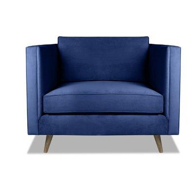 Best Brayden Studio Pullman Armchair Upholstery Blue 400 x 300
