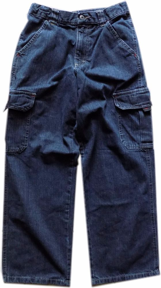 Boys Wrangler Jeans Cargo Carpenter Pants With Adjusa Table Waist Sz 14 Regular Wrangler Jeans 100 Cotton Jeans Pants
