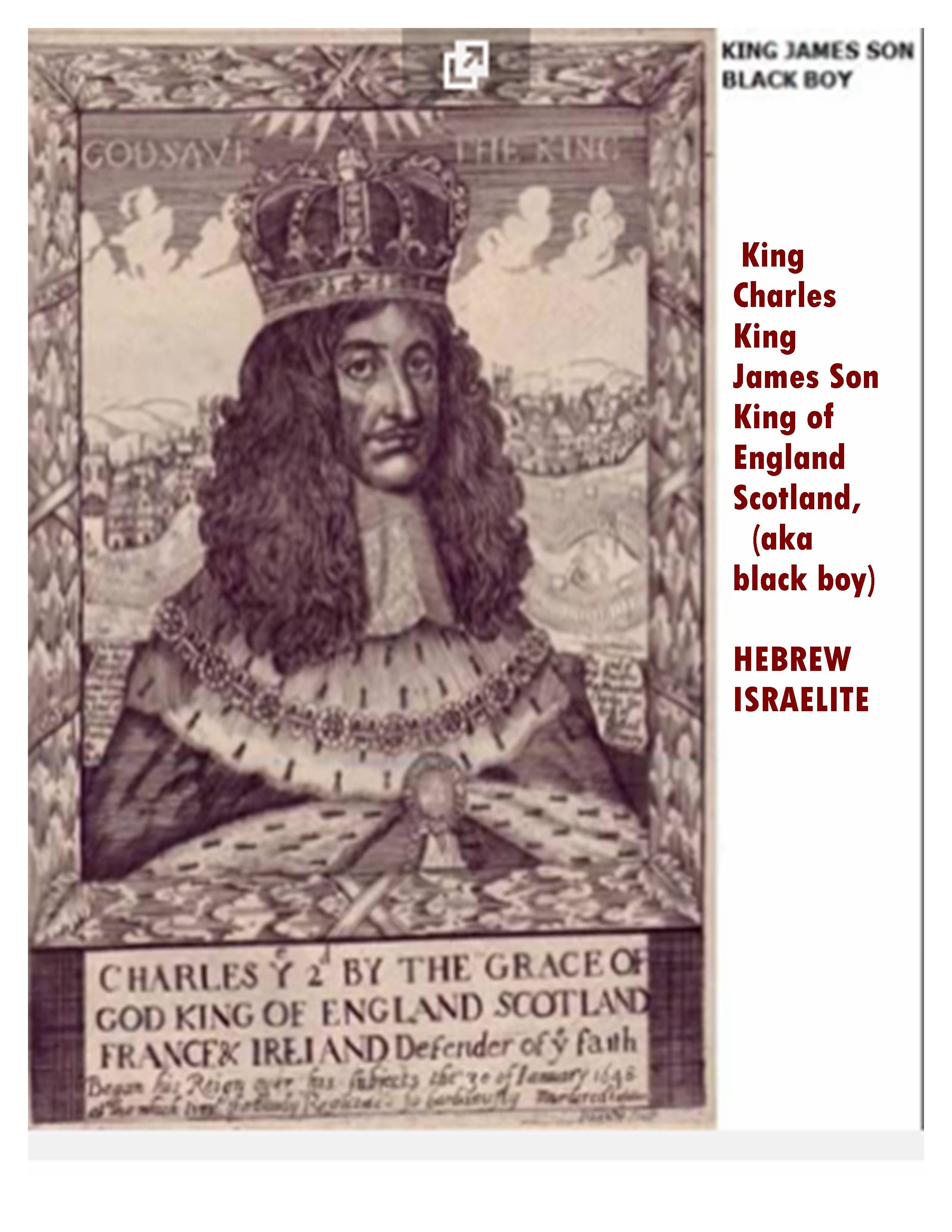 King Charles Son Of King James Who Wrote The Bible 1611 Black History Books European History History