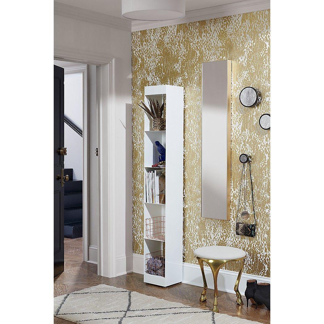 Shop Infinity Brass 10 5 X54 Narrow Wall Mirror Mirror Image