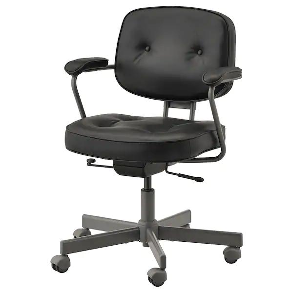 Alefjall Chaise De Bureau Glose Noir Ikea Chaise Bureau Ikea Fauteuil Pivotant
