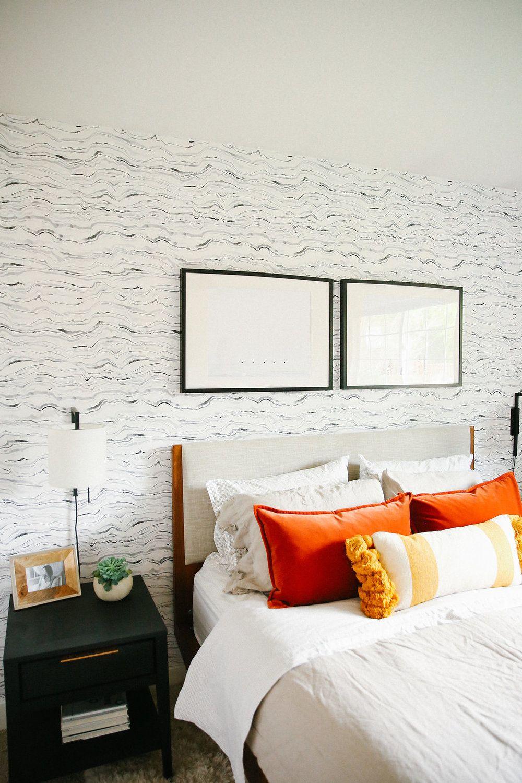 Portland midcentury modern home bedroom mandy riggar interiors
