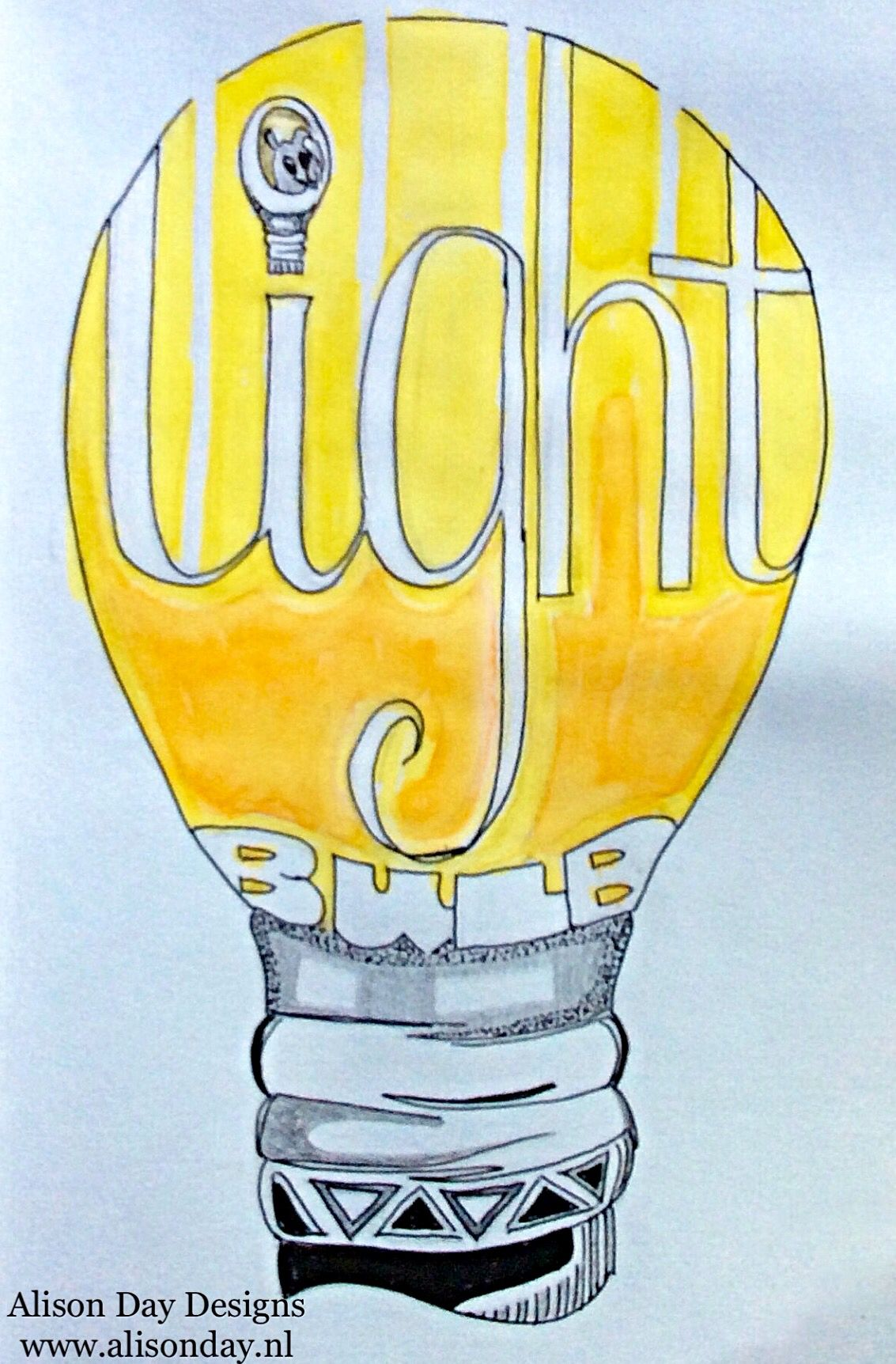 Light bulb by Alison Day
