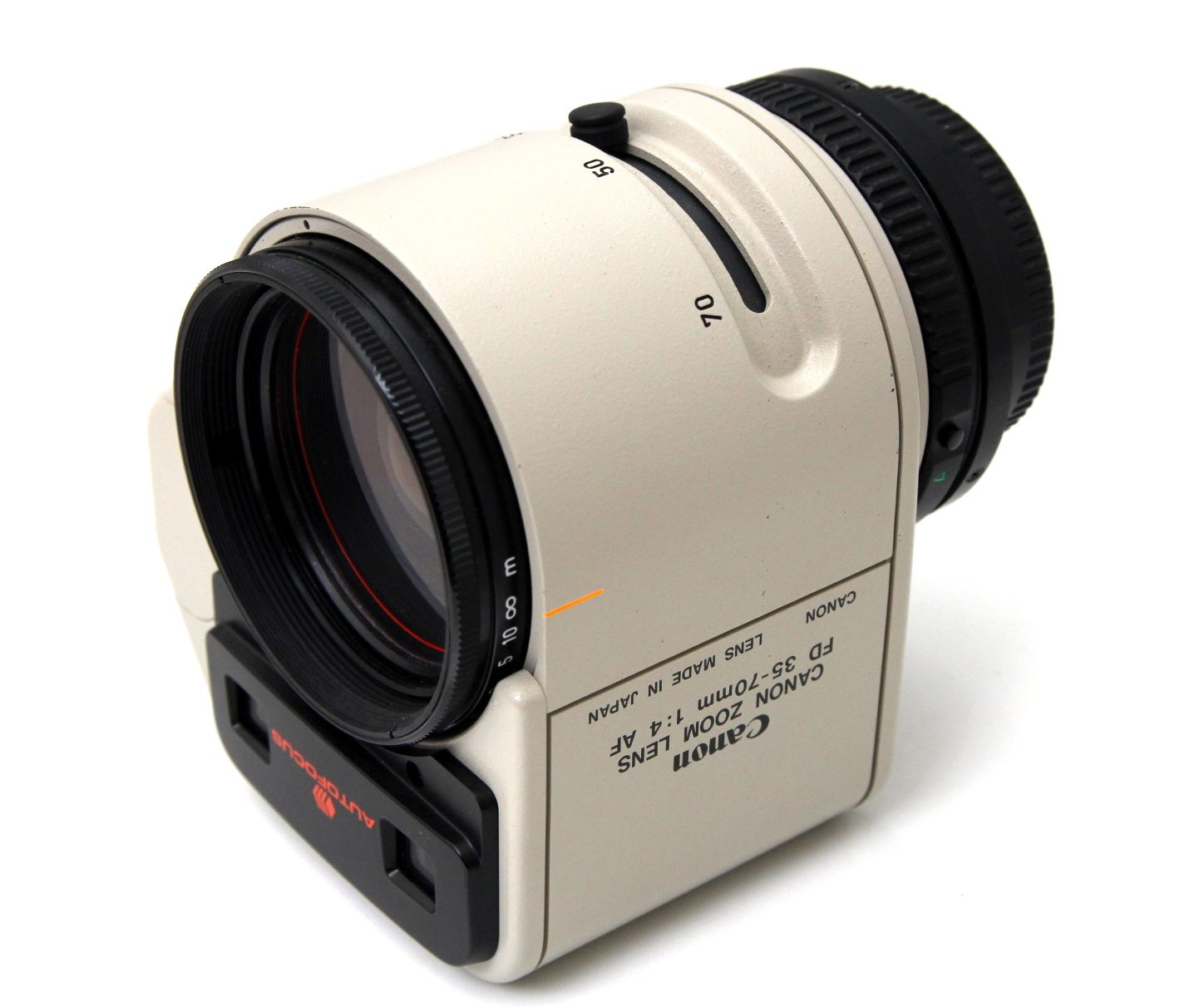 The Canon Fd F4 35 70mm Autofocusing Zoom Lens From 1981 Believed To Be The First Autofocus Zoom Introduced And Fitte Unique Collectibles Zoom Lens Autofocus