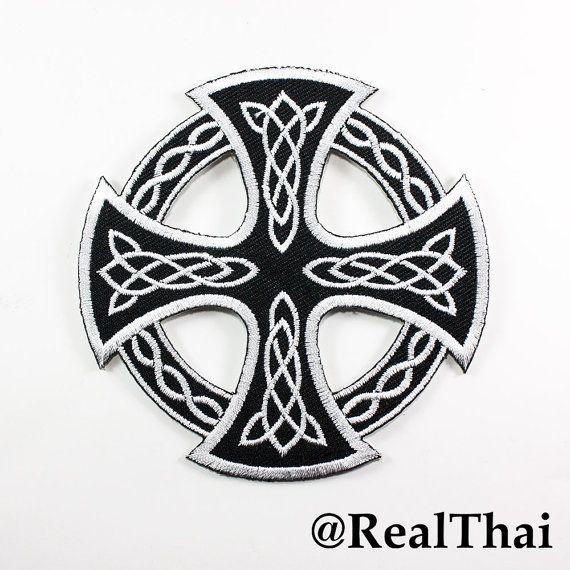 Celtic Cross Circle Embroidered Crux Ordinaria Symbol Sew Magic