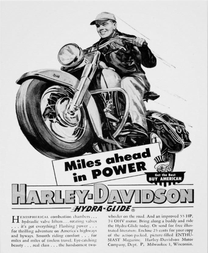 Vintage 1953 Harley Davidson Poster Vintage 1953 Harley Davidson Poster Hog Heaven Vintage 1953 H Harley Davidson Posters Harley Davidson Art Harley Davidson